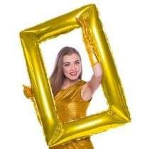 Palloncino mylar Super Shape Cornice grande Oro