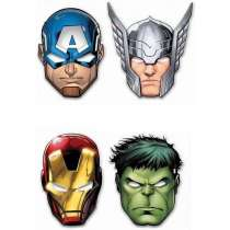 Maschera Avengers Mighty 6pz
