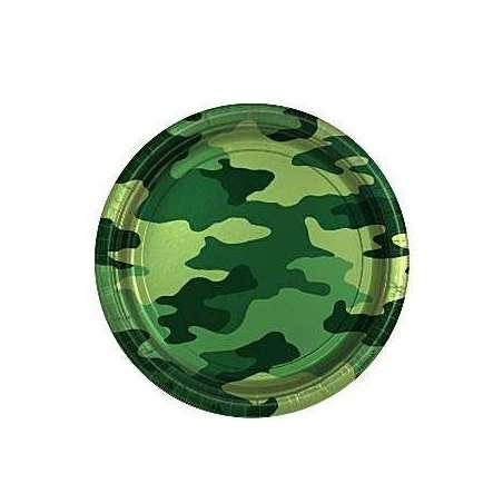 """Piatto piccolo Mimetico """"Camouflage"""" 17.8 cm"""