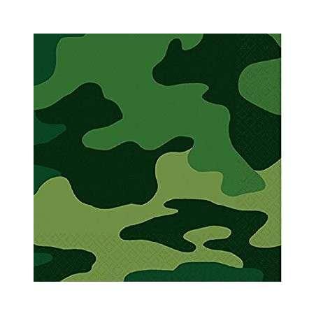 """Tovagliolo Mimetico """"Camouflage"""" 16pz"""