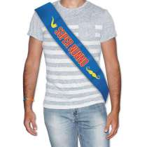 """Fascia Premio Metallizzata """"Super Nonno"""" cm 168x10"""