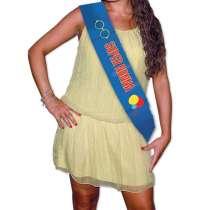 """Fascia Premio Metallizzata """"Super Nonna"""" cm 168x10"""