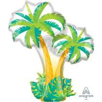 Palloncino Super Shape mylar Palme Tropicali