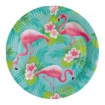 Piatto Grande Flamingo Paradise 8pz