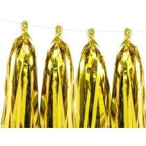 Tassel Garland Gold 12pz