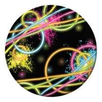 """Piatto Piccolo """"Glow Party"""" 8pz"""