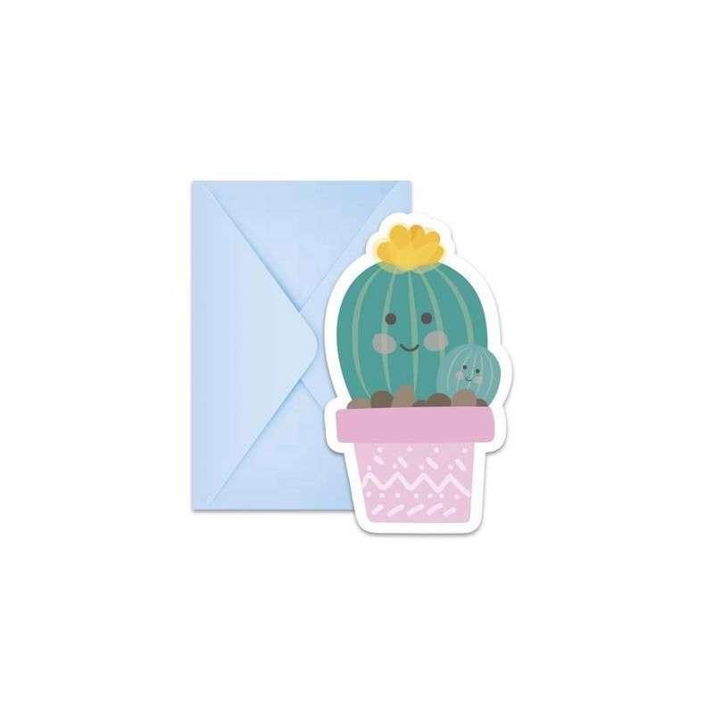 Invito Cactus con Bustina 6pz