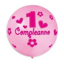 Palloncino GS220 352 Rosa 1°Compleanno 1pz