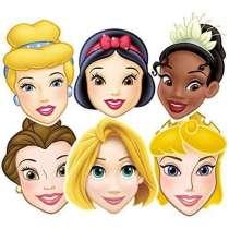 Maschere Principesse Disney 6pz