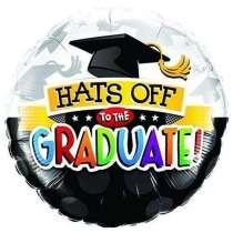 "Palloncino 18"" mylar ""Hats Off Graduate"""