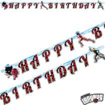 "Festone Happy Birthday Lady Bug ""Miraculous"""