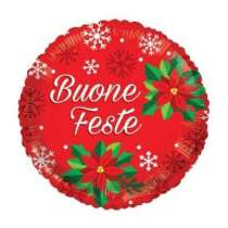 "Palloncino 18"" mylar Merry Christmas Star RedPalloncino 18"" mylar Buone Feste"