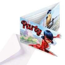 Inviti con busta Miraculous Ladybug 8pz