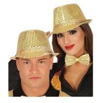 Cappello con Paillettes Oro 1pz