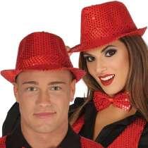 Cappello con Paillettes Rosso 1pz