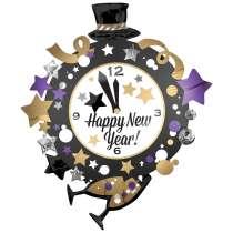 Palloncino Super Shape mylar H.N.Y. Clock