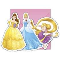 Invito Principesse Heart Strong con Bustina 6pz
