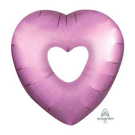 Palloncino SuperShape mylar Cuore Rosa Flamingo