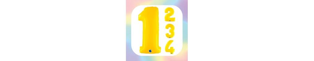 """Numeri 40"""" Giallo Fluo """"Yellow"""""""