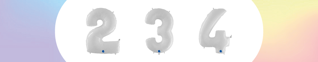 """Numeri 40"""" Bianco """"White"""""""