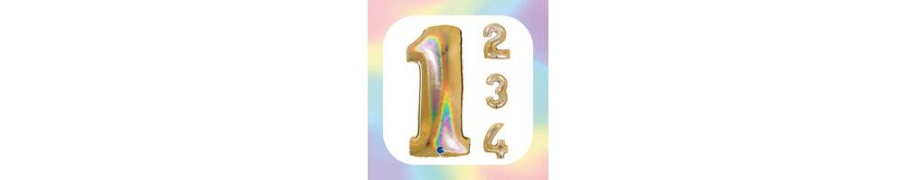 """Numeri 40"""" Oro Glitter Olografico """"Gold"""""""