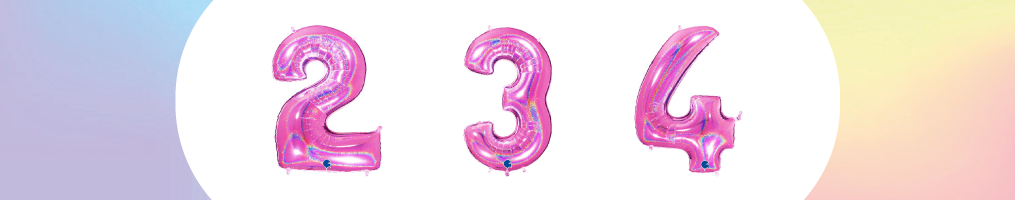 """Numeri 40"""" Fucsia Glitter Olografico """"Fuxia"""""""