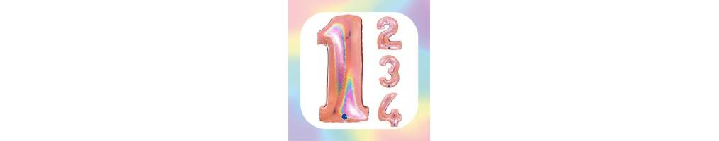 """Numeri 40"""" Rose Gold Glitter Olografico"""