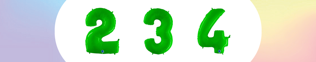 "Numeri 40"" Verde Fluo""Hot Lime Fluo"""