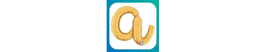 """Lettere Medie Corsivo Oro 14""""/36cm"""