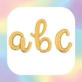 """Lettere Corsivo 14"""" Oro """"Gold"""""""