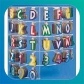 lettere e numeri adesivi in foil