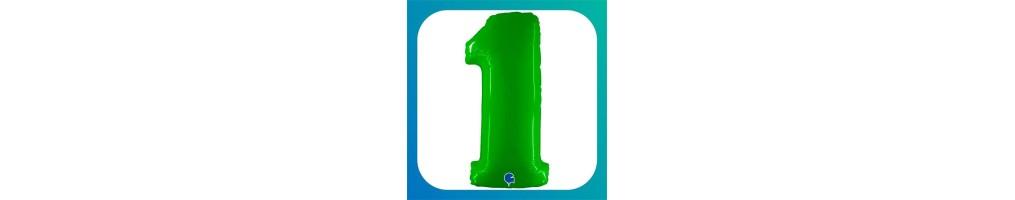 numeri grandi verde fluo