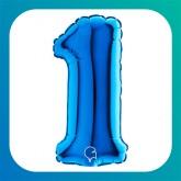 """Numeri piccoli blu 7""""/18cm"""