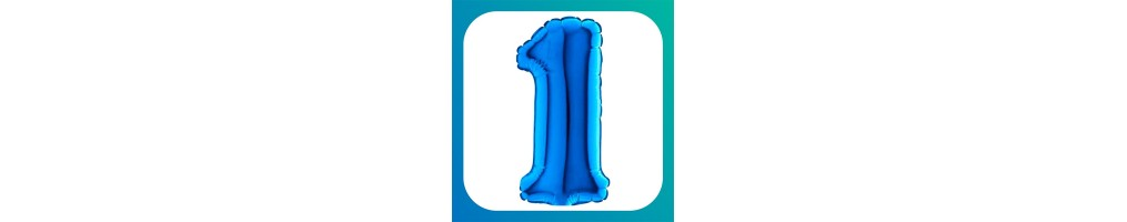 "Numeri medi Blu 14""/35cm"